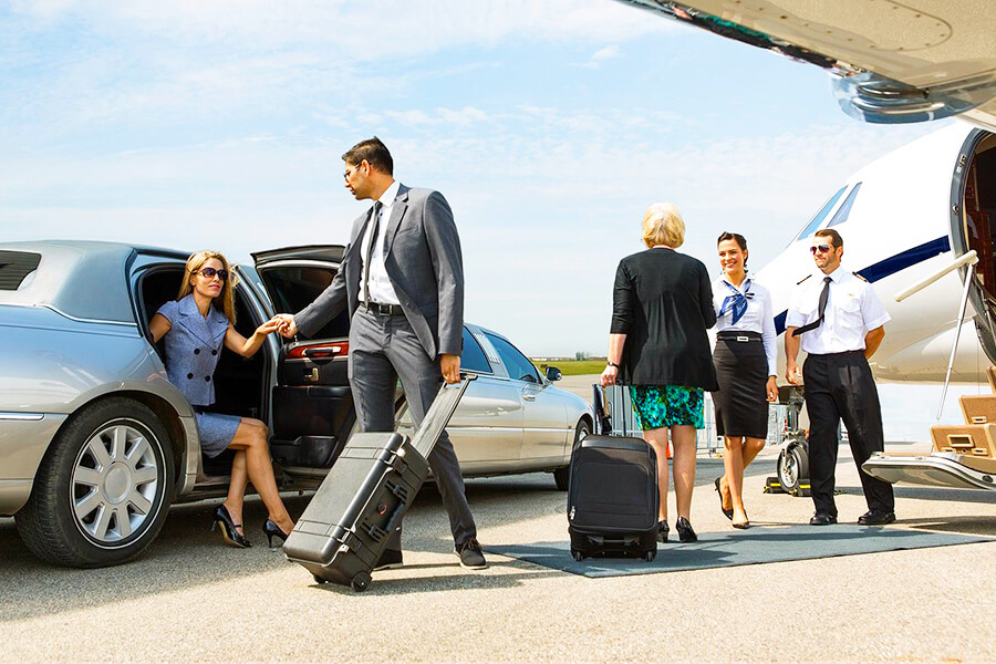 VIP meet and greet service for seniors on private jet